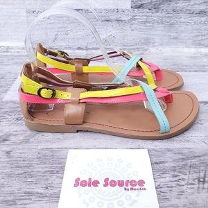 Jessica Simpson Joan Neon Thong Sandal sz 7